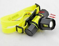 Headlamp 1600Lm Head Torch Waterproof CREE XM-L T6 LED Zoomable Diving Headlight