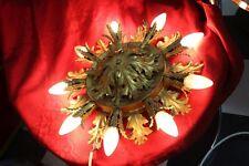 Deckenlampe 9 Brennstellen floral florentiner 60/70er Jahre Chabby Chic 1