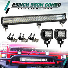 """360W 25"""" High Output Led Light Bar Combo For Offroad Driving Atv Ute Suv 4WD 24"""""""