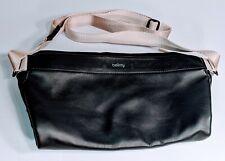 Bellroy Black Leather Premium Sling Bag Crossbody Unisex Waterproof