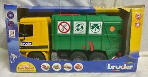 Bruder 4143 Mercedes Benz Actros Recycling Garbage Toy Truck 1/16 Scale