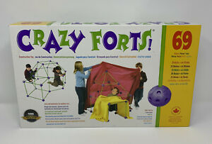 Crazy Forts Construction Building Toy 69 Pieces Open Box