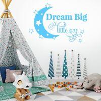 Wall Sticker DREAM BIG Boys Girls Stars Moon Crescent Vinyl Decal Nursery