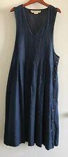 Perfect Vintage Womens Dress Pams Closet Side Button Detail Lightweight Pleated