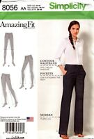 Simplicity Sewing Pattern 8056 Amazing Fit Pants  in Ladies Sizes 10-18