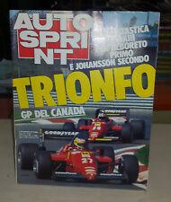 AUTOSPRINT 1985 n.25 GP Canada Le verità di Vudafieri Le Mans Barilla a sorpresa