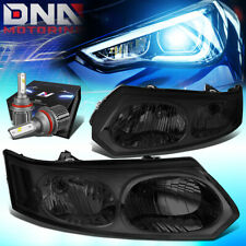 FOR 2003-2007 SATURN ION 4DR REPLACEMENT HEADLIGHT W/LED KIT+COOL FAN SMOKED