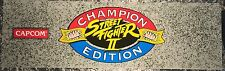 "Street Fighter II (2) Champion Edition Arcade Marquee 26""x8"""