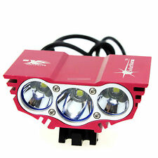 CREE U2 X3 XML Front MTB Cycling Bicycle Bike Light Lamp with Mount & Battery