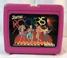 Barbie Rockers Thermos Brand LunchBox Pink Vintage 1987