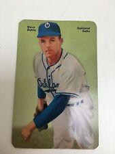 Mothers Cookies Baseball Card 1952 Dave Dahle #15 Oakland Oaks