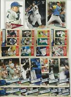 TAMPA BAY RAYS 2019 Topps Big League MASTER TEAM SET w/ Inserts-Leaders (20)