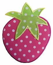 Especially Baby Large Polka Dot Strawberry Embroidered Iron On Applique