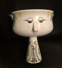 Bjorn Wiinblad Danmark Art Studio Pottery - Pedestal Face Cup or Vase -V7 82