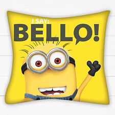 DESPICABLE ME MINIONS MINION BELLO CUSHION PILLOW KIDS CHILDS BOYS GIRLS BEDROOM