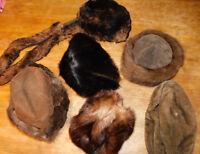 LOT 5 ancien VINTAGE chapeau pour FEMME HAT cappello HUT frauen sombrero LADY