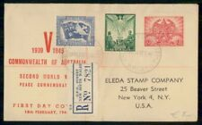 Mayfairstamps Australia Fdc 1946 Cover Peace Stamps Combo wwh78667