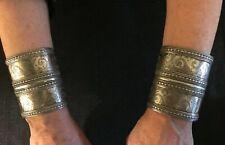 Ersari Tribal Silver Cuff Bracelets. Antique Turkoman Turkman. Bangle. Excellent