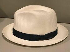 $97 BAILEY OF HOLLYWOOD GUTHRIE FEDORA NATURAL STRAW WEAVE SMALL   NEW!