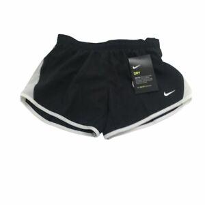 New Nike Girls Running Jogging Shorts Black Size YSM 7-8