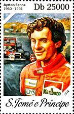 Sao Tome Principe MNH Sport Formel 1 F1 Rennfahrer Weltmeister Senna Brasilien