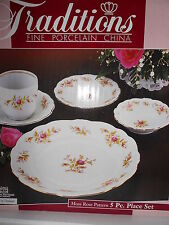 Johann Haviland Moss Rose 5 pc. place setting Plates Bowl Saucer Cup NIB