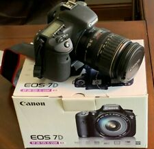 Canon EOS 7D 18.0 MP Digital SLR Camera Black EF-S IS USM 28-135mm Kit USA