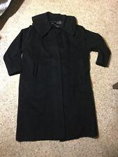 Men's Size Small/medium 100% Mongolian Cashmere Solid Black Top Coat Overcoat