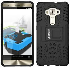Amzer Hybrid Warrior Case Cover for ASUS Zenfone 3 Deluxe Zs570kl - Black
