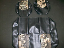 """Club Car Ds '99 dwn Hunting Golf Cart Deluxeâ""""¢ Seat Covers-Staple On(Blck w/Camo)"""