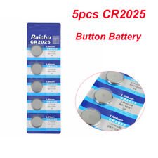 5X 3V CR2025 Alkaline Button Battery Cell Coin Watch Calculator Batteries