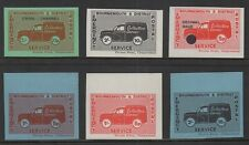 BOURNEMOUTH STRIKE EMERGENCY POSTAL SERVICE CINDERELLA STAMPS - 6 STAMPS