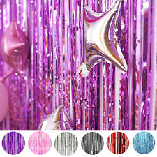 Buy 2 Get 1 Free! Metallic Foil Fringe Curtain Photo Backdrop Tinsel Party Decor