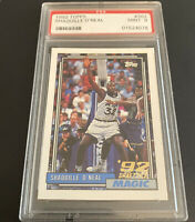 """1992 Topps SHAQUILLE """"SHAQ"""" O'NEAL Rookie Card #362 ** PSA 9 MINT **  LOW NUMBER"""