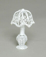 Small White Wire Lamp, Dolls House Miniature Room accessory Lighting