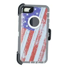 For iPhone 6/6S Case (Universal Belt Clip Fits OtterBox Defender) USA Flag