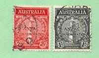 Australia - SG# 154 & 155 Used       -        Lot 0120110