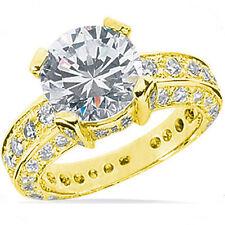 2.31 ct center Round Diamond Engagement Wedding Solitaire 14K Yellow Gold Ring