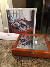 "Glass Backgammon Set Wood Storage Case Glass Finished Mirrored Board 10x10x2"""
