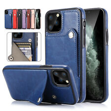 Leather Flip Magnetic Wallet Card Holder Case iPhone 11 Pro Max XS XR 8 7 6S SE2