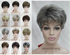 14 Colour Short Curly Women ladies Daily Hair Wig Hivision Natural #5976