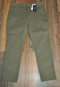 Ralph Lauren Khaki Chinos Chino Trousers UK 14 Cotton NEW