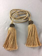Decorative Long Gold Rope Cord With Tassel Ends Window Decoration