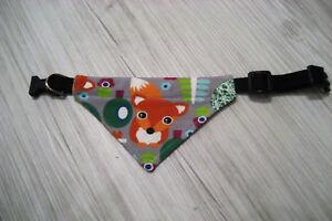Halsbandlänge verstellbar 26-34 cm  Hundehalstuch Halstuch Hundebekleidung Tuch