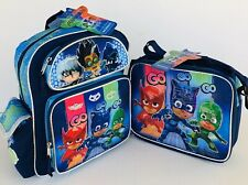 """Pj Masks Small 12"""" inches School Backpack & Lunch Box (Brand New & Authentic)"""