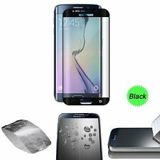 FULL CURVED TEMPERED GLASS LCD SCREEN PROTECTOR FOR SAMSUNG GALAXY S6 EDGE Black