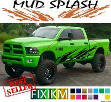 Mud splash graphic decal for Dodge Ram Chevrolet Silverado Ford F‑150 GMC Sierra