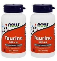 NOW Foods - Taurine 500 mg,100 Capsules - 2 Pack