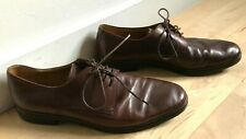 BALLY Brown Leather Lace Up Rubber Sole Derby Shoes  size US 11 1/2 D