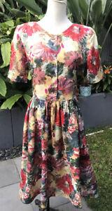 Jump Items Floral Button Front Summer Dress 12